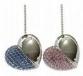 Bracelet Jewelry Heart Design Wedding Gift USB Flash Drive 1