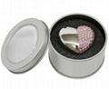 Bracelet Jewelry Heart Design Wedding Gift USB Flash Drive 2