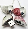 Bracelet Jewelry Heart Design Wedding Gift USB Flash Drive 3