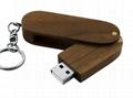 USB Stick Twister Wooden Printed Flash