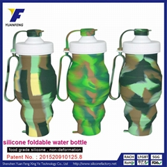 Collapsible Silicone Water Bottle Sports Water Bottle BPA Free