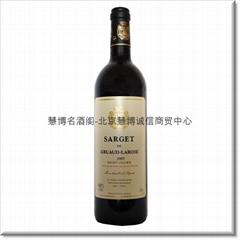 金玫瑰城堡萨驰圣朱里安法定产区干红葡萄酒(庄园第二标)