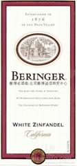 贝灵哲庄园加州白仙粉黛桃红半甜白葡萄酒Beringer