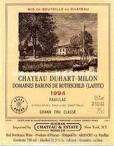 都夏美隆拉菲 Chateau Duhart-Milon