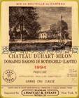 杜哈米雍(红)正牌红葡萄酒 CH.Duhart Milon