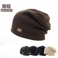 Winter Hats Knitted Beanie Caps Soft Warm Ski Hat