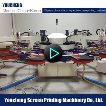 Fully automatic 4 color t shirt screen printing machine for T shirt printing machine suppliers