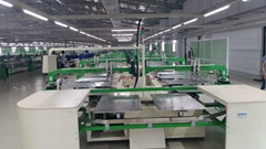 Automatic t-shirt oval screen printing machine with large format station