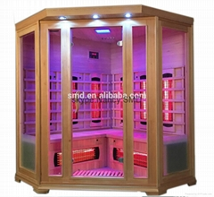 6 Persons far infrared sauna steam combined room