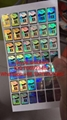 AMEX high quality anti-fake hologram sticker 3D effect