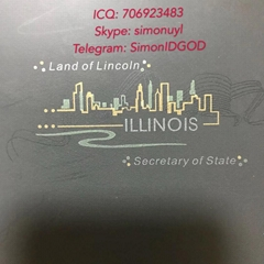 New IL hologram overlay UV IL OVI Laminate sheet for Illinois ID DL TEMPLATE (Hot Product - 1*)