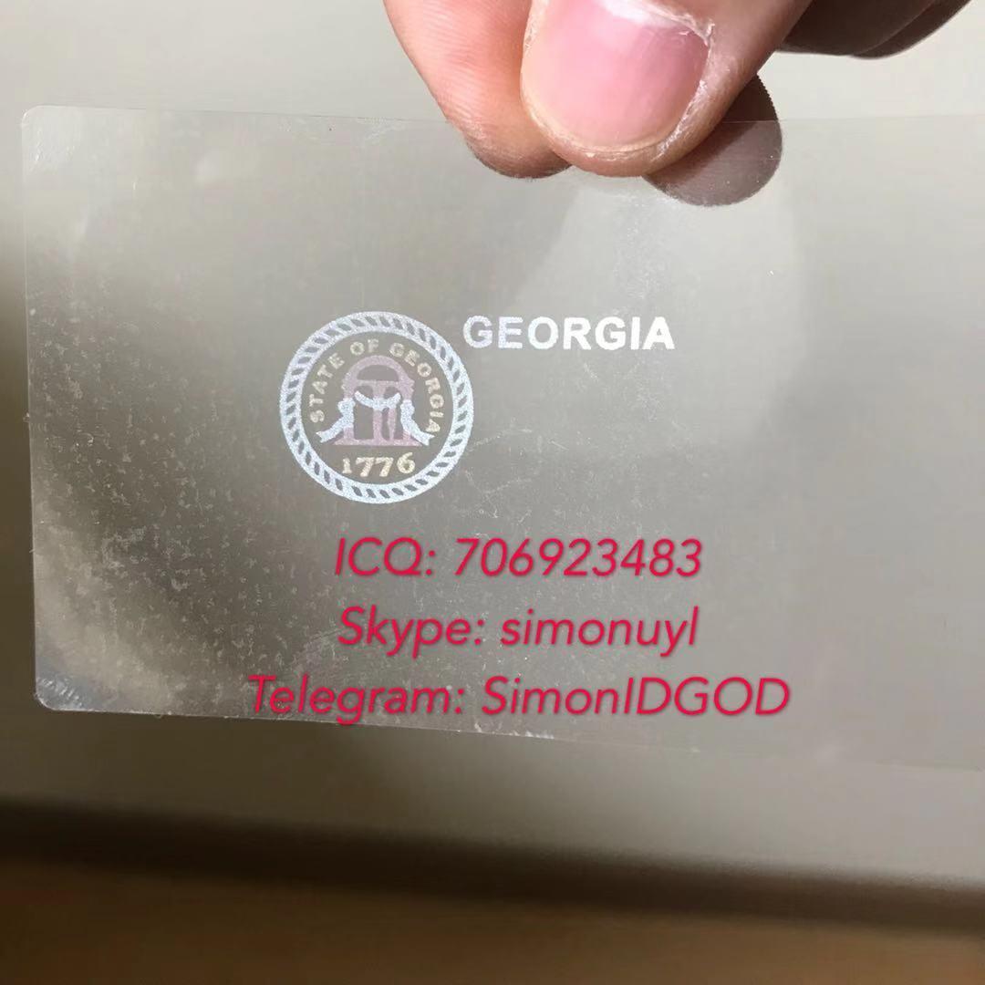 New GA Georgia hologram overlay with UV OVI hologram overlay sticker  1