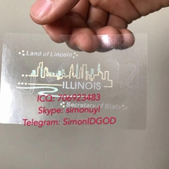New IL Illinois hologram overlay with UV OVI Driver sticker License for IL DL