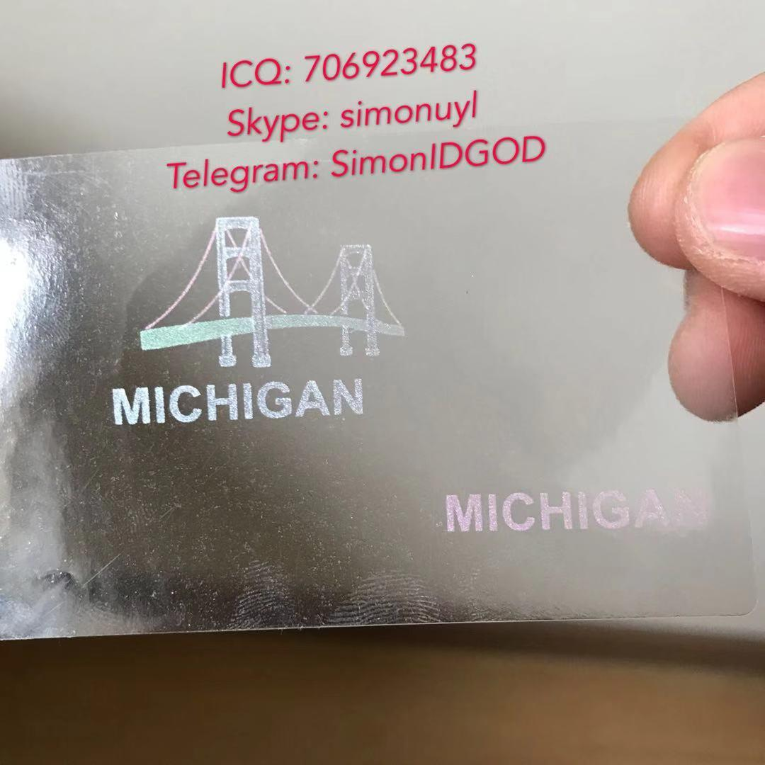 New Michigan MI hologram overlay OVI hologram sticker overlay for MI DL 1