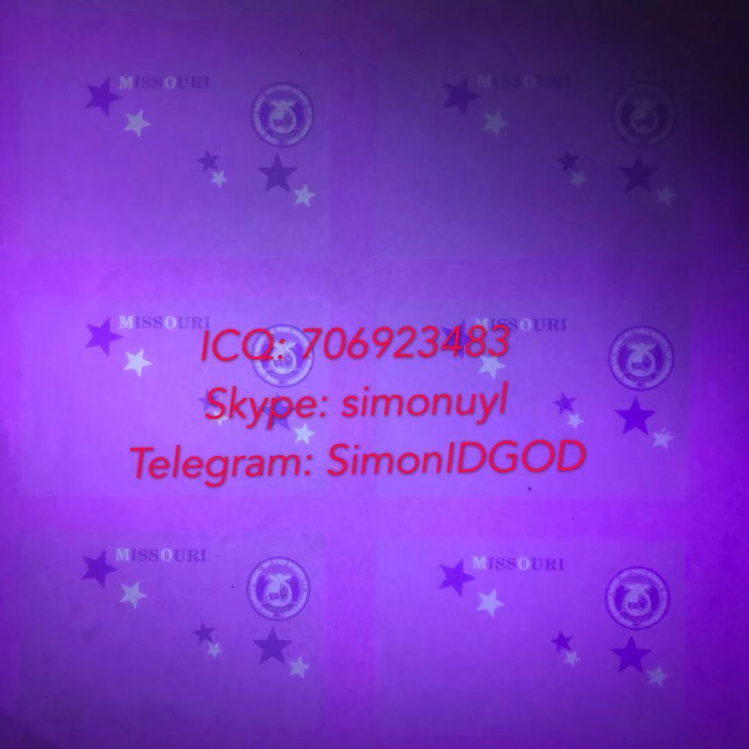New Missouri MO hologram overlay WITH UV OVI hologram sticker overlay for MO DL 3