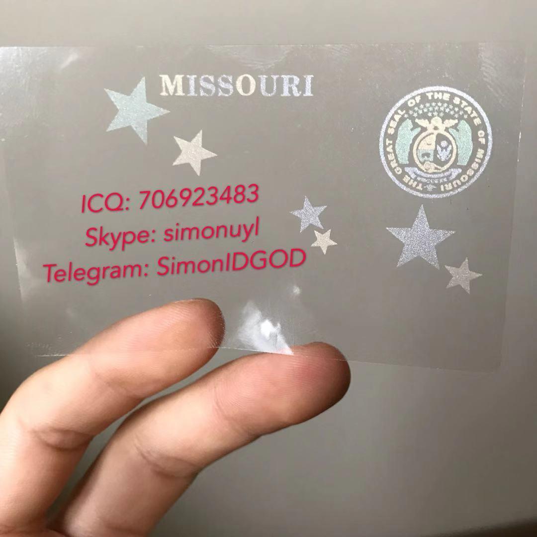 New Missouri MO hologram overlay WITH UV OVI hologram sticker overlay for MO DL 2