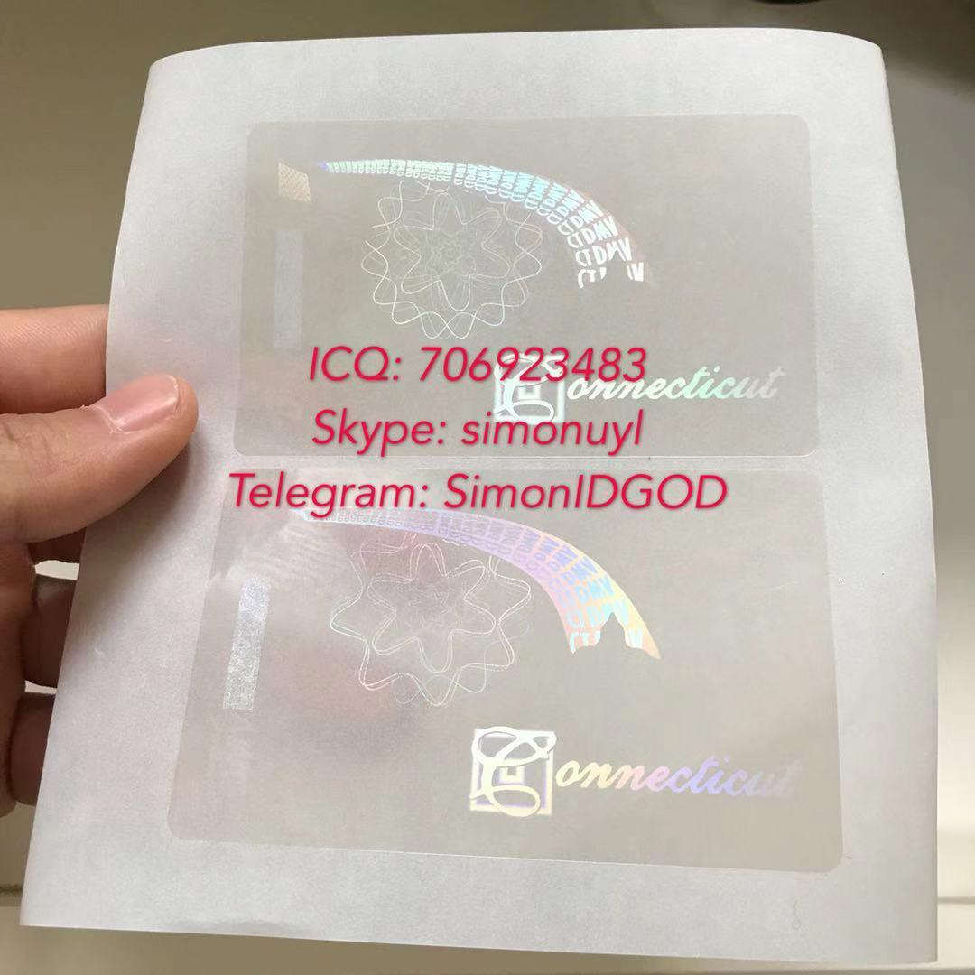 Connecticut CT ID DL hologram overlay Connecticut ID template 2