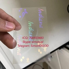 Indiana IN ID DL hologram overlay sticker Indiana ID template