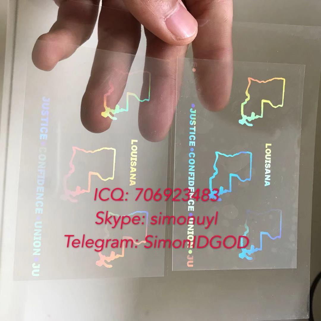 Louisiana LA ID DL hologram overlay sticker Louisiana ID template 2