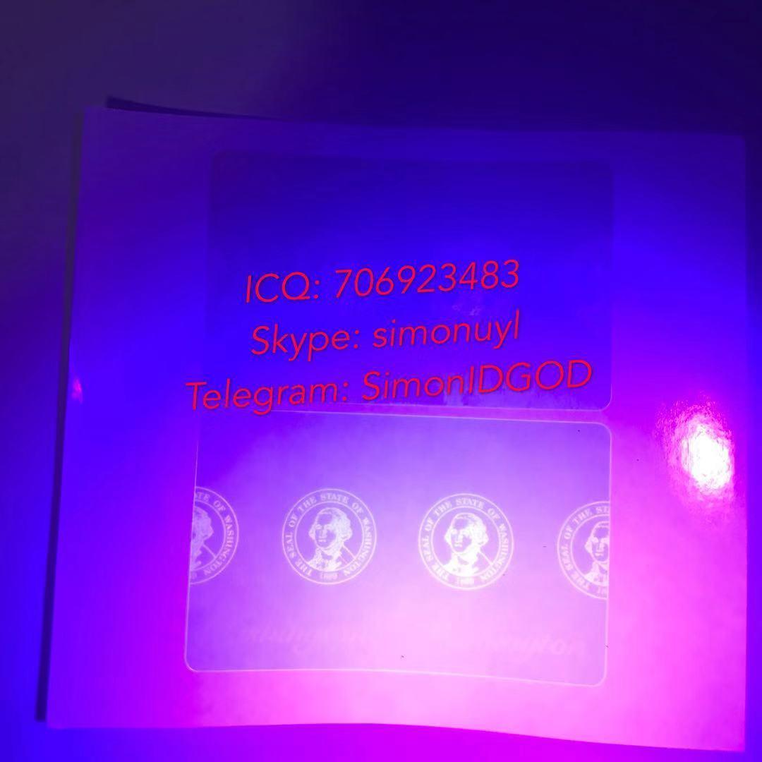Washington WA ID DL hologram overlay sticker WITH UV Washington ID template 2
