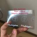 Washington WA ID DL hologram overlay sticker WITH UV Washington ID template 3