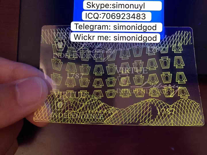 New Pennsylvania PA hologram overlay WITH UV OVI hologram overlay for New PA 2