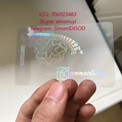 Connecticut state ID overlay hologram sticker supplier fast delivery