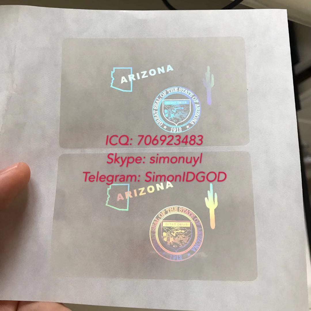 US Arizona grand canyon state ID overlay hologram sticker cheap price az 2