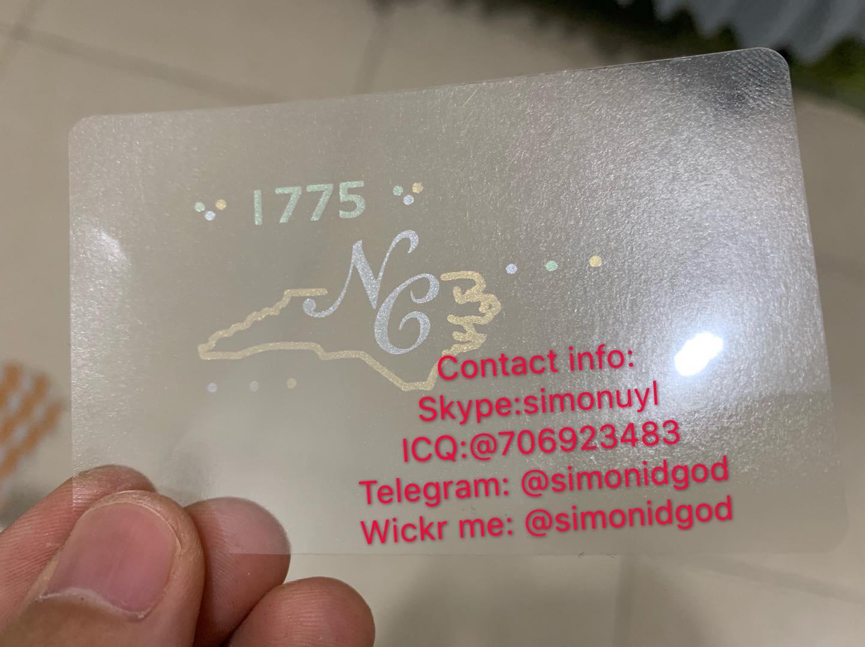 NEW NC ID driver Lice OVI hologram overlay North Carolina template