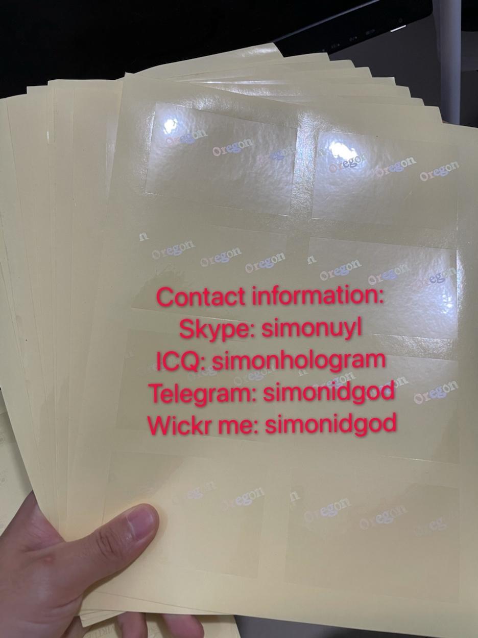 Oregon OR OVI hologram sticker with UV for OR Oregon ID Driver lice 4