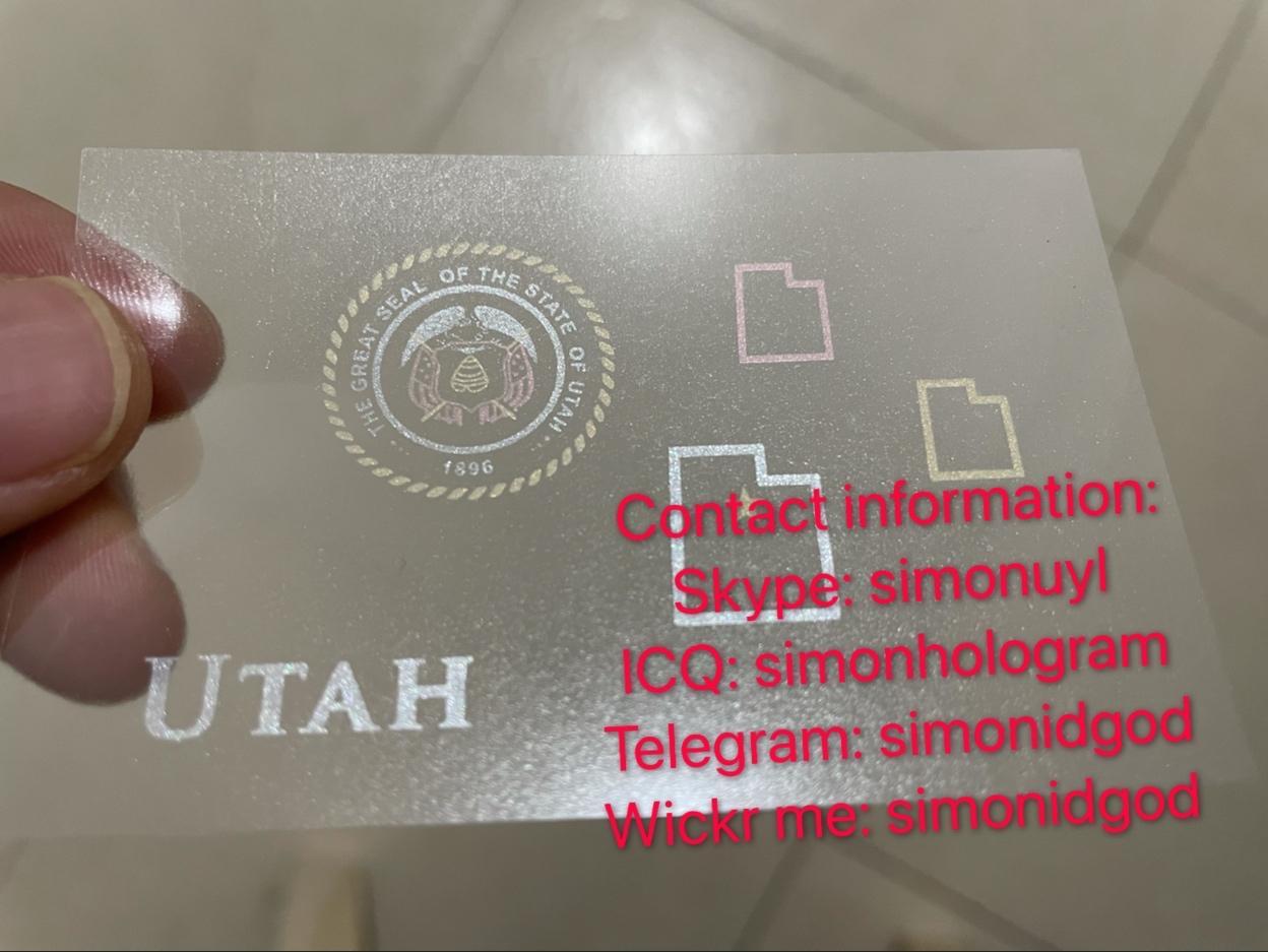 New Utah OVI hologram sticker for UT Utah ID Driver lice 1