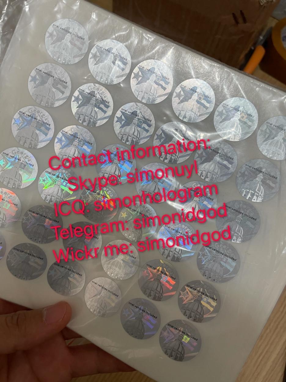 Georgia GA Driver Lice hologram sticker GA back Kingram with words 2