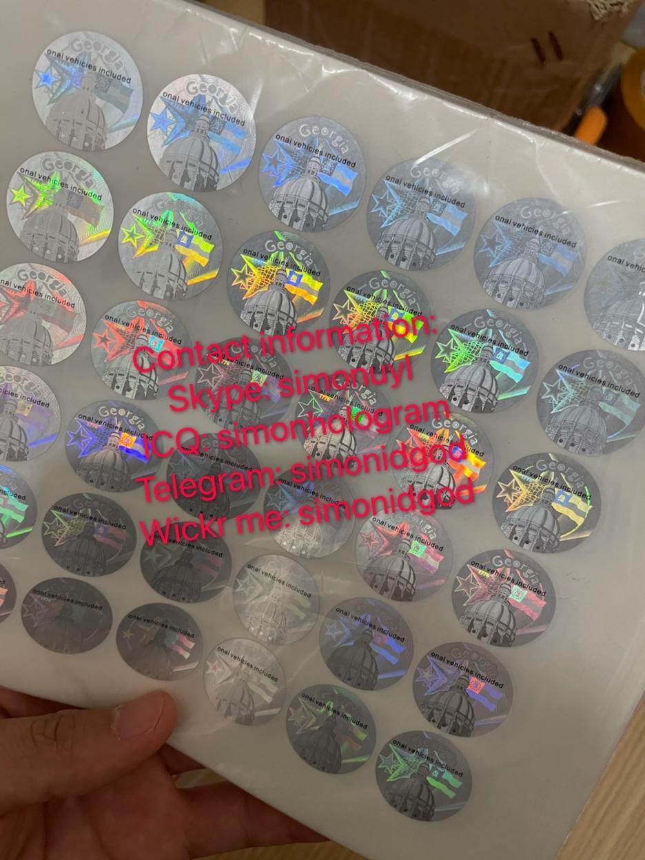 Georgia GA Driver Lice hologram sticker GA back Kingram with words 3