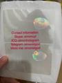 UK British ID hologram overlay sticker