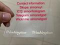 Washington WA ID DL hologram OVI overlay sticker WITH UV Washington ID template