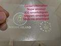 NEW Rhode Island ID DL hologram overlay sticker NEW RI  ID template