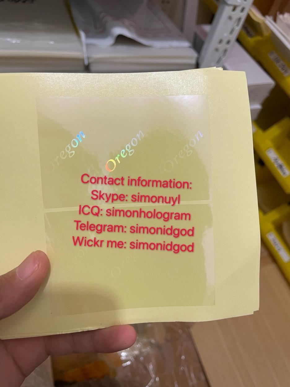 Oregon OR ID DL hologram overlay sticker Oregon ID template 2