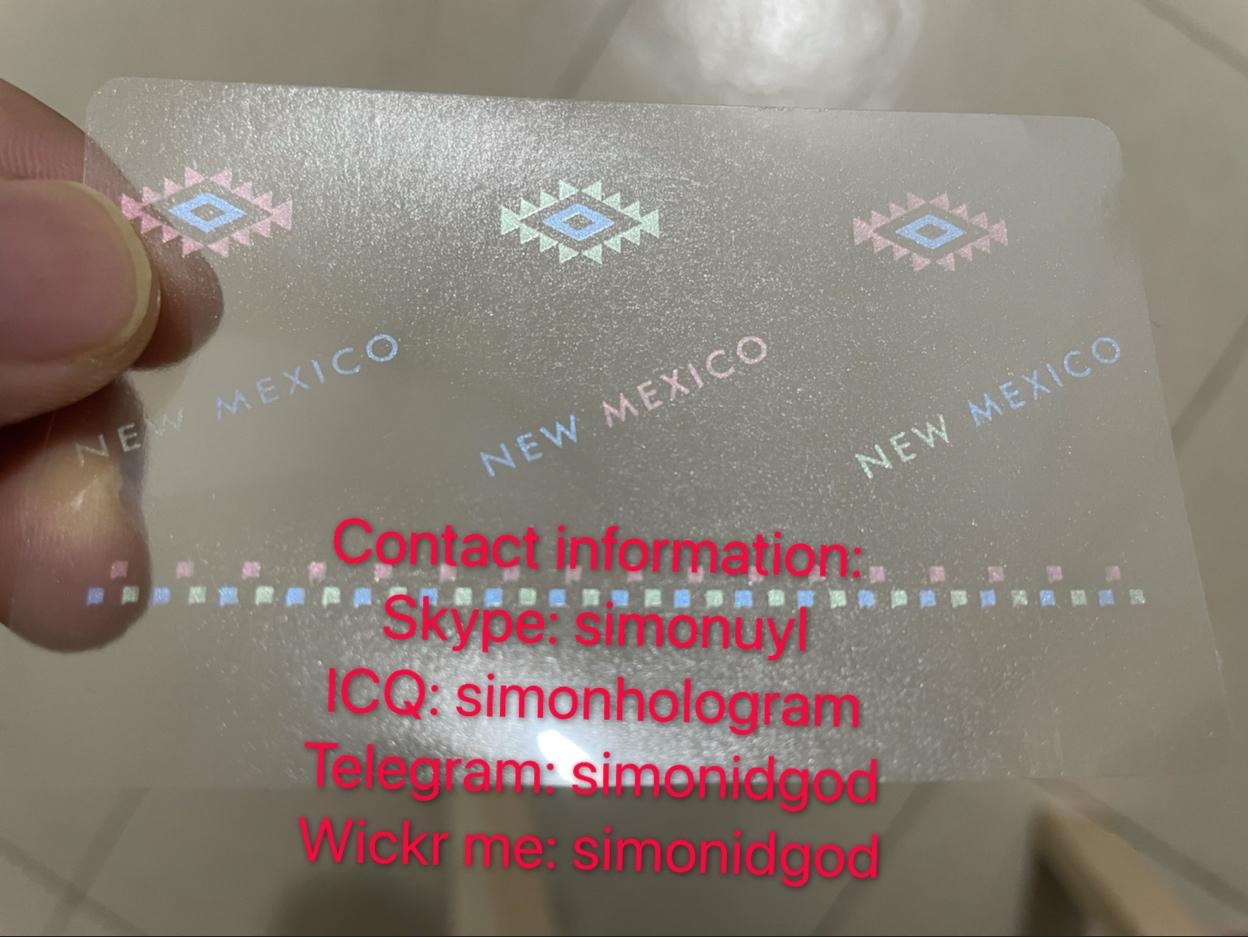New Mexico NM ID DL hologram overlay sticker New Mexico ID template 1