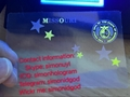 Missouri MO ID DL UV hologram overlay sticker Missouri ID template