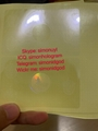 Massachusetts MA ID DL hologram overlay sticker UV Massachusetts ID template 4