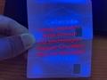 Colorado CO ID DL hologram overlay CARD with UV  Colorado ID template 3