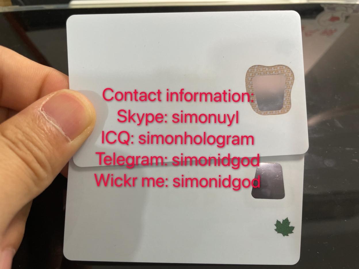 Canada ID PR card  Permanent Resident UV CARD PR hologram sticker