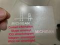 New Michigan MI hologram overlay OVI hologram sticker overlay for MI DL