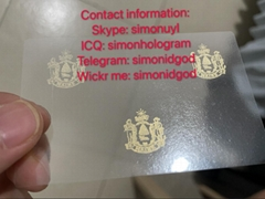 Maine ME hologram overlay OVI Driver sticker License for ME DL