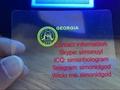 GA Georgia hologram overlay with UV OVI hologram overlay sticker