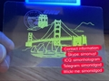 New California CA UV hologram overlay OVI hologram overlay sticker
