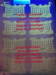 New PA Pennsy  ania id hologram UV OVI laminate sheet TESLIN pref paper (Hot Product - 1*)