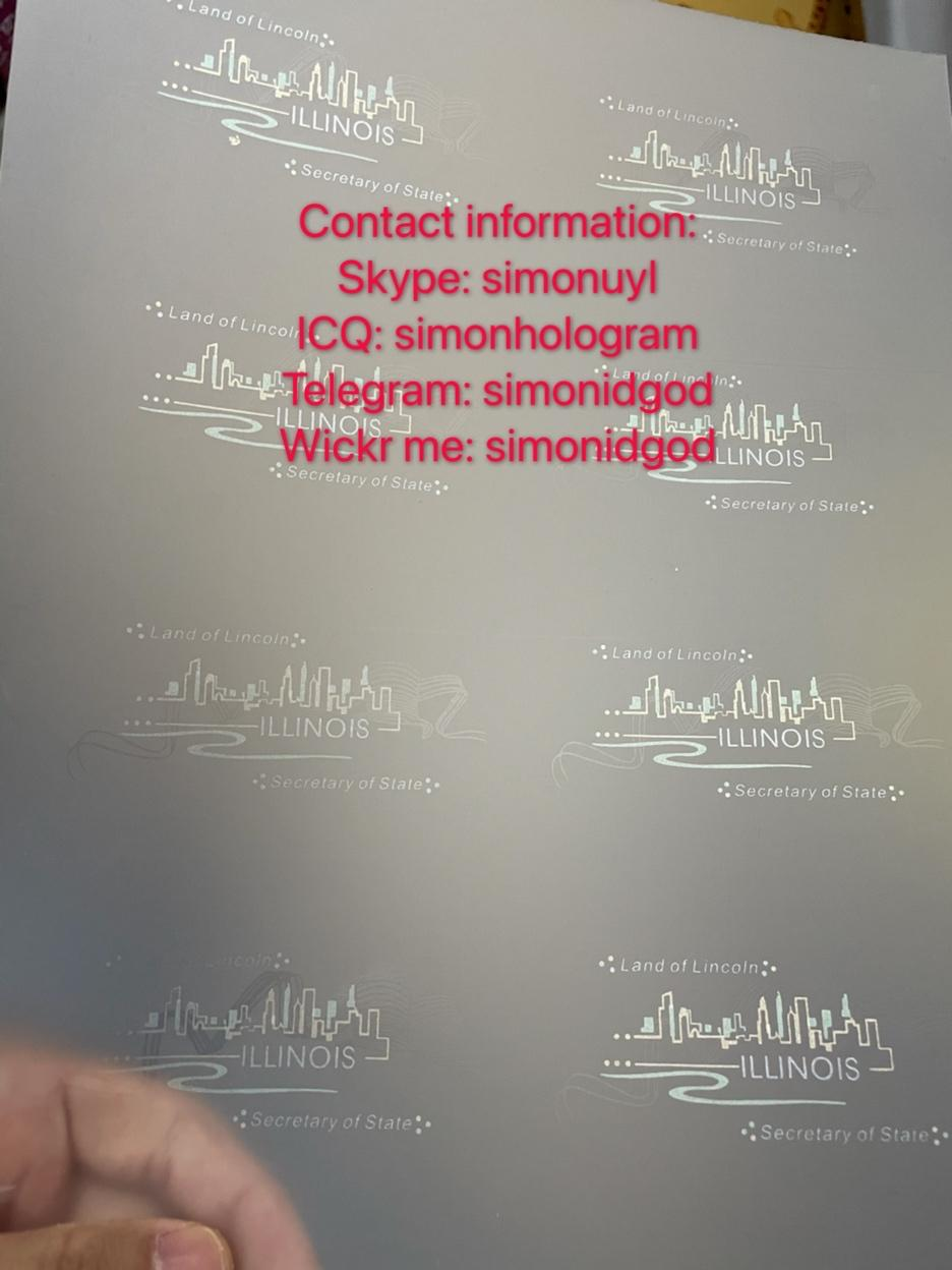 New IL hologram overlay UV IL OVI Laminate sheet Illinois teslin pref TEMPLATE 2