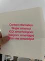 New IL teslin paper pref single piece IL OVI UV hologram Laminate sheet