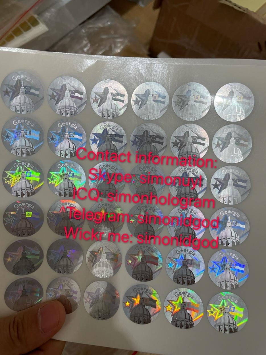 GA ID back sticker Kingram GA ID back hologram sticker  2
